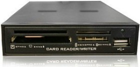 takeMS 64in1 Cardreader Metall, schwarz, USB 2.0 (TMS-CRE-M1B)