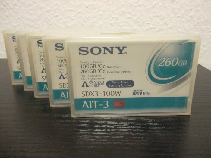 Sony SDX3-100W AIT-3 Cartridge 260GB/100GB -- via Amazon Partnerprogramm