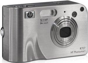 HP Photosmart R707 srebrny bez stacja dokująca (Q2232A)