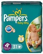 Pampers Baby-Dry Gr.4+ Einwegwindel, 9-20kg, 31 Stück