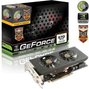 Point of View GeForce GTX 570 TGT Beast Dual Fan, 1.25GB GDDR5, 2x DVI, HDMI, DisplayPort (TGT-570-A3-1-BST-D)