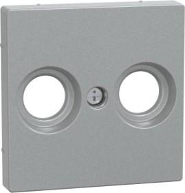 Merten Zentralplatte für Antennensteckdosen aluminium (MEG4122-0460)