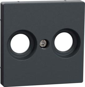 Merten Zentralplatte für Antennensteckdosen anthrazit (MEG4122-0414)