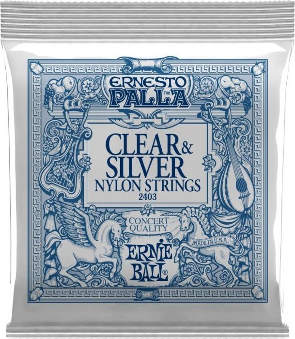 Ernie Ball Ernesto Palla Clear & Silver (P02403)
