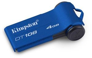 Kingston DataTraveler 108 blue 4GB, USB 2.0 (DT108/4GB)