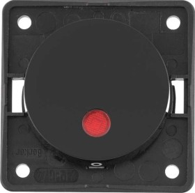 Berker Integro FLOW Kontroll-Ausschalter 2-polig 12V, schwarz glänzend (937622510)