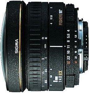 Sigma AF 8mm 4.0 EX Zirkular Fisheye für Nikon F schwarz (483944)