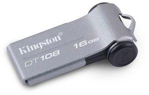 Kingston DataTraveler 108 grau 16GB, USB-A 2.0 (DT108/16GB)