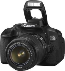 Canon EOS 650D schwarz mit Objektiv EF-S 18-55mm 3.5-5.6 IS II (6559B041)