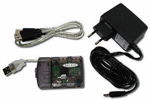 Belkin Hi-Speed USB 2.0 kompaktowy hub przeźroczysty (F5U238EACRL-MOB)
