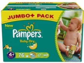 Pampers Baby-Dry Gr.4+ Einwegwindel, 9-20kg, 76 Stück