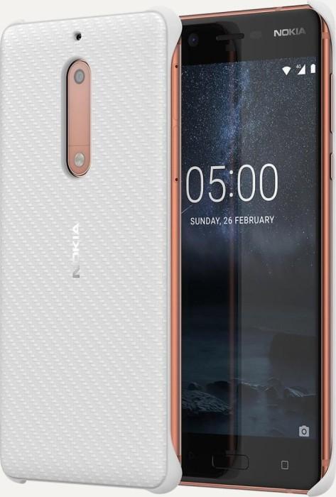 Nokia CC-803 Carbon Fibre Design Case für Nokia 5 weiß (1A21M1D00VA)