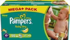 Pampers Baby-Dry Gr.4+ Einwegwindel, 9-20kg, 96 Stück