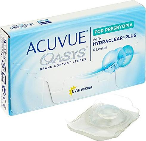 Johnson & Johnson Acuvue Oasys for Presbyopia, -0.25 diopters, 6-pack