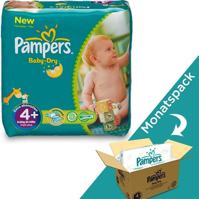 4 Pampers Baby Dry Windeln 152 Stück Gr 9-18 kg bis zu 12 Stunden Trockenheit