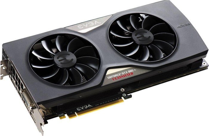 EVGA GeForce GTX 980 Ti Classified ACX 2.0+, 6GB GDDR5, DVI, HDMI, 3x DisplayPort (06G-P4-4998-KR)