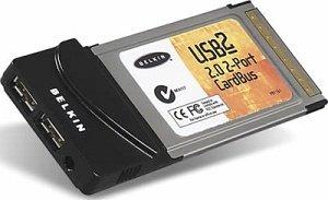 Belkin USB Card, 2x USB 2.0, Cardbus (F5U222de)