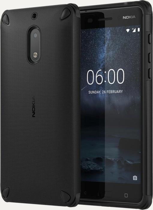 Nokia CC-501 Rugged Impact Case für Nokia 6 schwarz (1A21M9200VA)