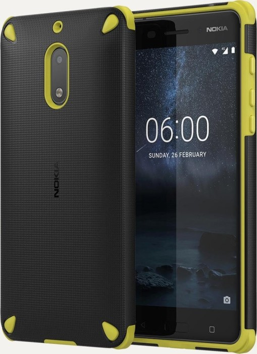 big sale 00221 3ca66 Nokia CC-501 Rugged Impact case for Nokia 6 black/yellow (1A21MKW00VA)