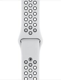 Apple Nike Sportarmband S/M und M/L für Apple Watch 40mm Platinum/schwarz (MTMQ2ZM/A)