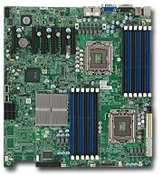 Supermicro X8DTE bulk, i5520 (dual Socket 1366, triple PC3-10667R reg ECC DDR3)