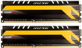 Avexir Core Series MPower Edition LED blau DIMM Kit 8GB, DDR3-1600, CL9-9-9-24 (AVD3U16000904G-2CM)