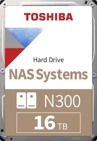 Toshiba N300 NAS Systems 16TB, SATA 6Gb/s, bulk (HDWG31GUZSVA)