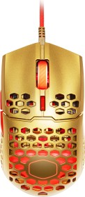 Cooler Master MasterMouse MM711 Golden Red RGB Gaming Maus gold/rot, USB (MM-711-GROL1)