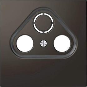 Merten Zentralplatte für Antennensteckdosen anthrazit (MEG4123-6034)