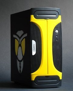 Chenbro PC80566 Hornet Mini-Tower black-yellow, 270W ATX -- © 2004 CWsoft
