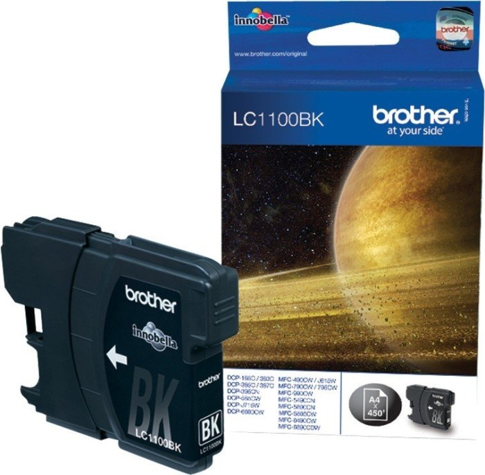 Brother LC1100BK Tinte schwarz