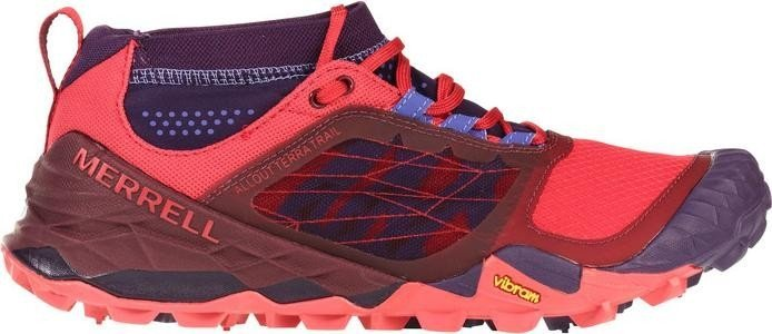 Merrell All Out Terra Trail, Damen Traillaufschuhe, Violett (Wild Plum/Red), 40 EU