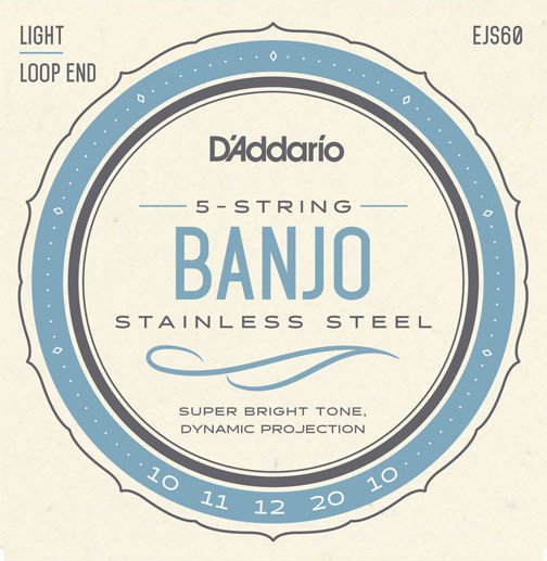 D'Addario 5-String Banjo Stainless Steel Light (EJS60)
