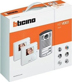Legrand Bticino video intercom system kit Villa 2, Classe 100 V12B with Linea 2000, two family house set (365521)