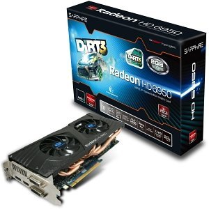 Sapphire Radeon HD 6950 DiRT3, 2GB GDDR5, 2x DVI, HDMI, DisplayPort, full retail (11188-05-50G)