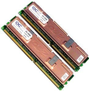 OCZ DIMM kit 1GB, DDR-400, CL3, reg ECC