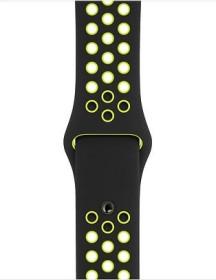 Apple Nike Sportarmband S/M und M/L für Apple Watch 40mm schwarz/Volt (MTMN2ZM/A)