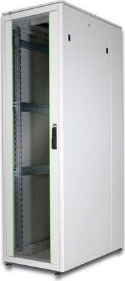 Digitus Professional DN-19 Unique Serie 42HE Serverschrank, Glastür, grau, 1000mm tief (DN-19 42U-6/10-1)