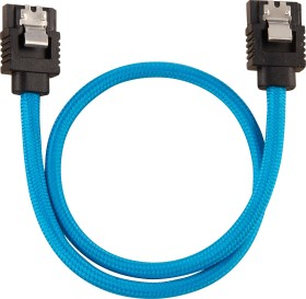 Corsair Premium sleeved SATA 6Gb/s cable blue 0.3m (CC-8900251)