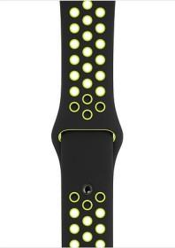 Apple Nike Sportarmband S/M und M/L für Apple Watch 44mm schwarz/Volt (MTMW2ZM/A)