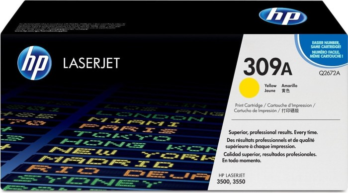 HP toner 309A żółty (Q2672A)