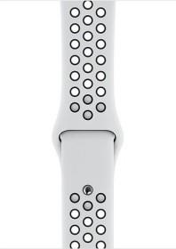 Apple Nike Sportarmband S/M und M/L für Apple Watch 44mm Platinum/schwarz (MTMY2ZM/A)