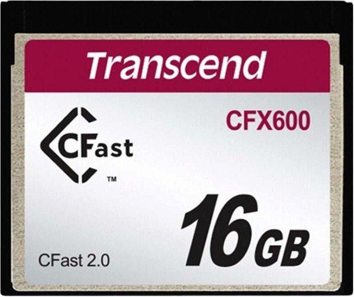 Transcend CFX600 CFast 2.0 CompactFlash Card (CF) 600x 16GB (TS16GCFX600)