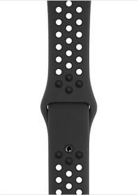 Apple Nike Sportarmband S/M und M/L für Apple Watch 44mm anthrazit/schwarz (MTMX2ZM/A)