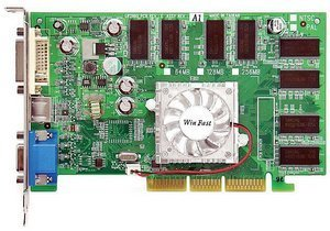 Leadtek WinFast A340 Pro TD128, GeForceFX 5200 (5500), 128MB DDR, DVI, TV-out, AGP