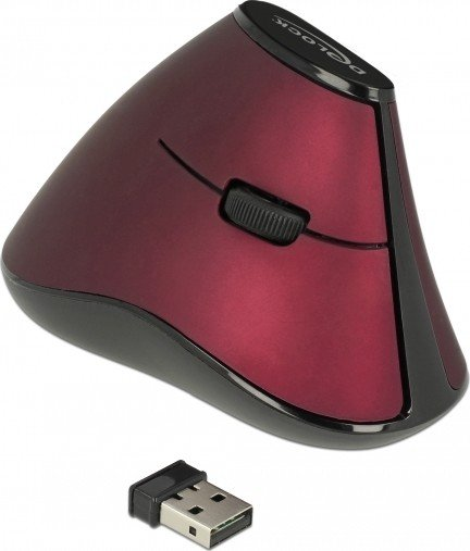DeLOCK wireless ergonomic vertical optical 5-button mouse, USB (12528)