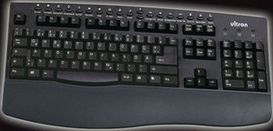 Ultron UMT-200S Keyboard schwarz, PS/2, DE (9864)