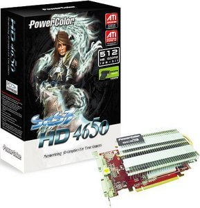 PowerColor Radeon HD 4650 SCS3, 512MB DDR2, 2x DVI, TV-out (R73B-PE3P)