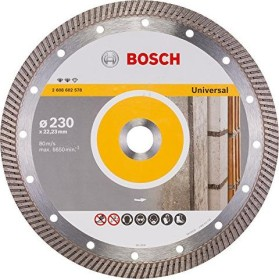 Bosch Expert for Universal Turbo Diamanttrennscheibe 230x2.8mm, 1er-Pack (2608602578)