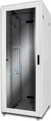 Digitus Professional DN-19 Unique Serie 42HE Serverschrank, Glastür, grau, 800mm tief (DN-19 42U-8/8-1)